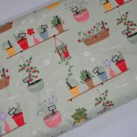 IN THE GARDEN BY CRAFT COTTON COMPANY, 100% COTTON. PLANTERS.