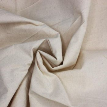100% COTTON CALICO NATURAL CREAM,  HEAVY WEIGHT 270GSM- 70 INCH WIDE.