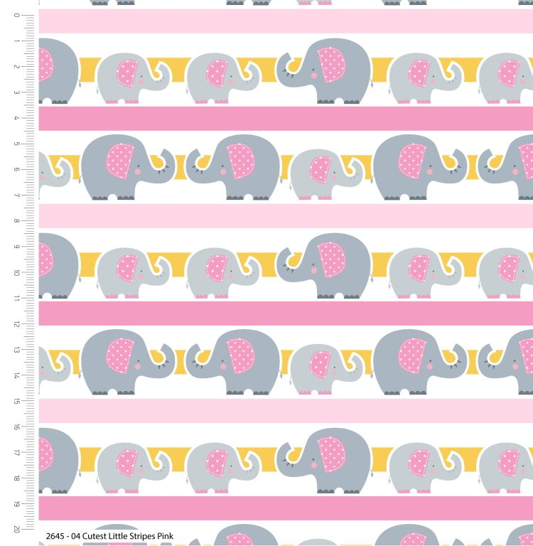 CUTEST LITTLE ELEPHANTS RANGE BY CRAFT COTTON COMPANY, 100% COTTON. PINK ST