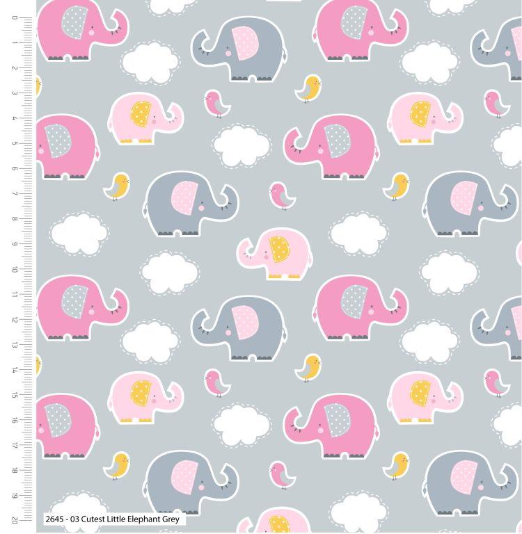 CUTEST LITTLE ELEPHANTS RANGE BY CRAFT COTTON COMPANY, 100% COTTON. RANDOM