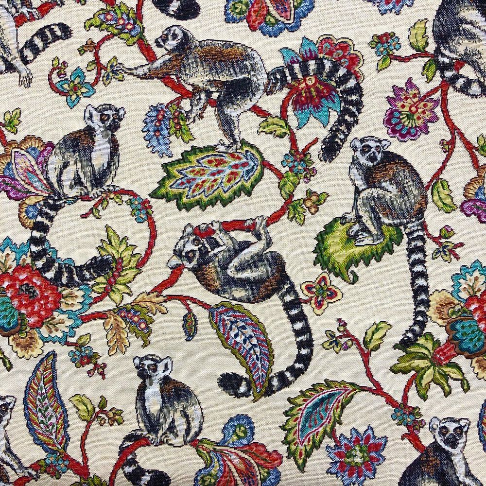 CHATHAM GLYN NEW WORLD TAPESTRY, RING TAILED LEMURS.