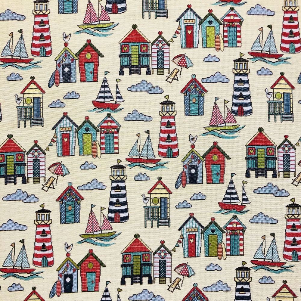 CHATHAM GLYN NEW WORLD TAPESTRY, BEACH HUTS.