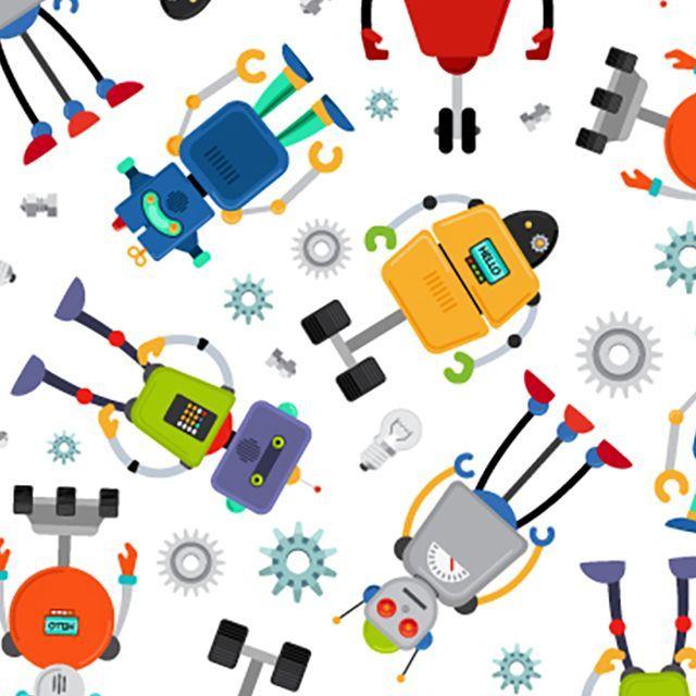 ROBOT PRINT POLY COTTON