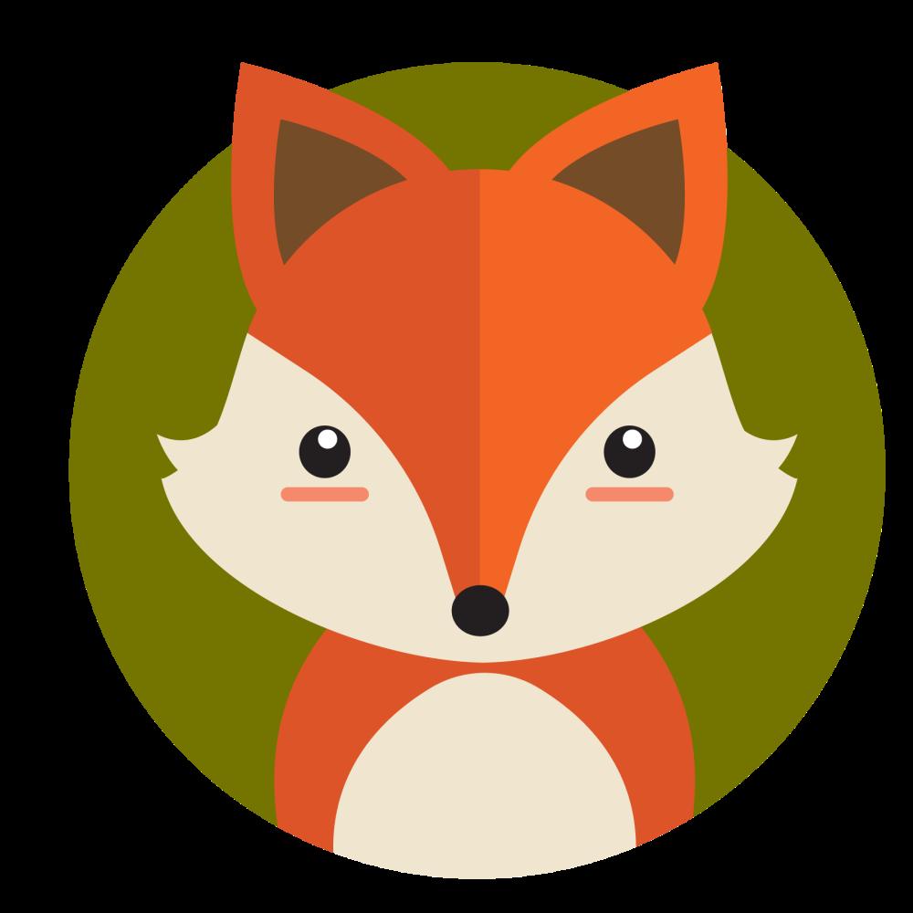 8 INCH FELT SQUARE,  FOX HEAD (OPTION A)