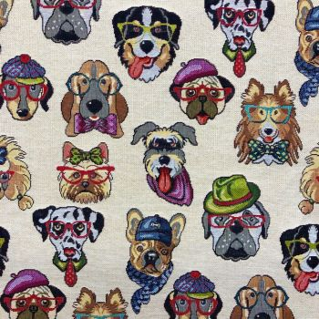 CHATHAM GLYN NEW WORLD TAPESTRY, DOGS.