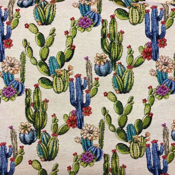 CHATHAM GLYN NEW WORLD TAPESTRY, CACTUS.