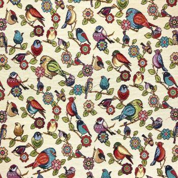 CHATHAM GLYN NEW WORLD TAPESTRY, BIRDS.