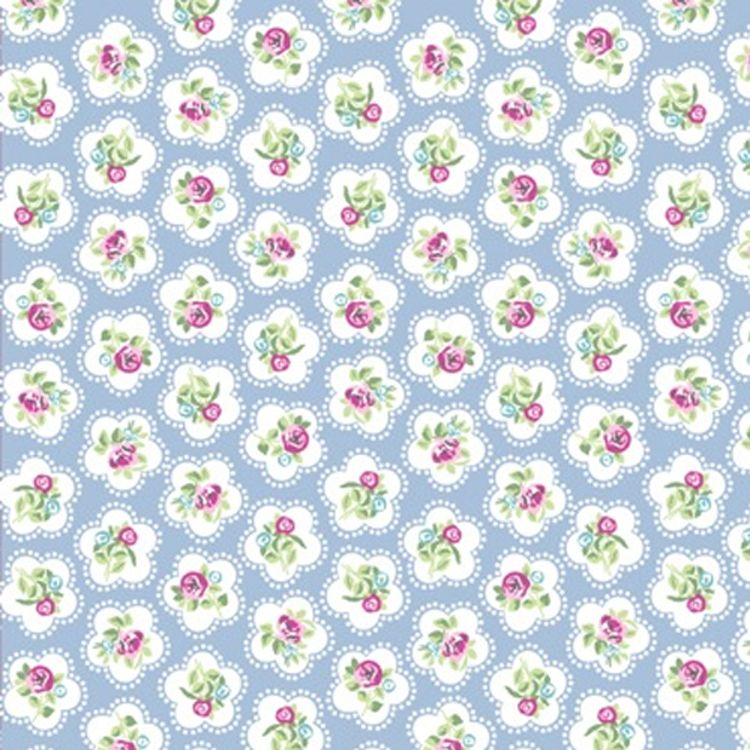 CHATHAM GLYN  100% COTTON. DAINTY FLOWER, 5 COLOURS AVAILABLE.