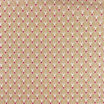 COTTON PANAMA FOR CURTAINS AND SOFT FURNISHINGS. ART DECO SAND.