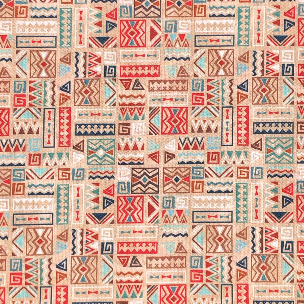 100% COTTON, 140 CMS WIDE. 'BOHO' RANGE, 4 DESIGNS TO CHOOSE FROM. DESIGN 2
