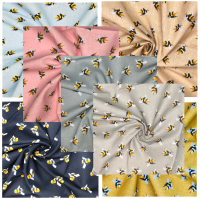 100% COTTON, 140 CMS WIDE. 'BUMBLEBEE' RANGE, 7 COLOURWAYS TO CHOOSE FROM.