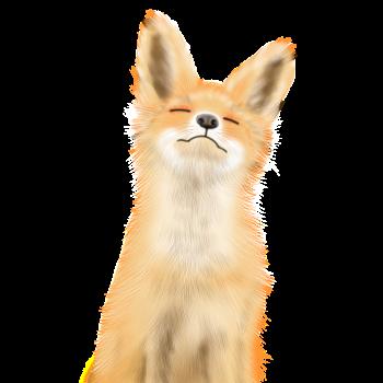 8 INCH FELT SQUARE,  WATERCOLOUR FOX SLEEPING 163