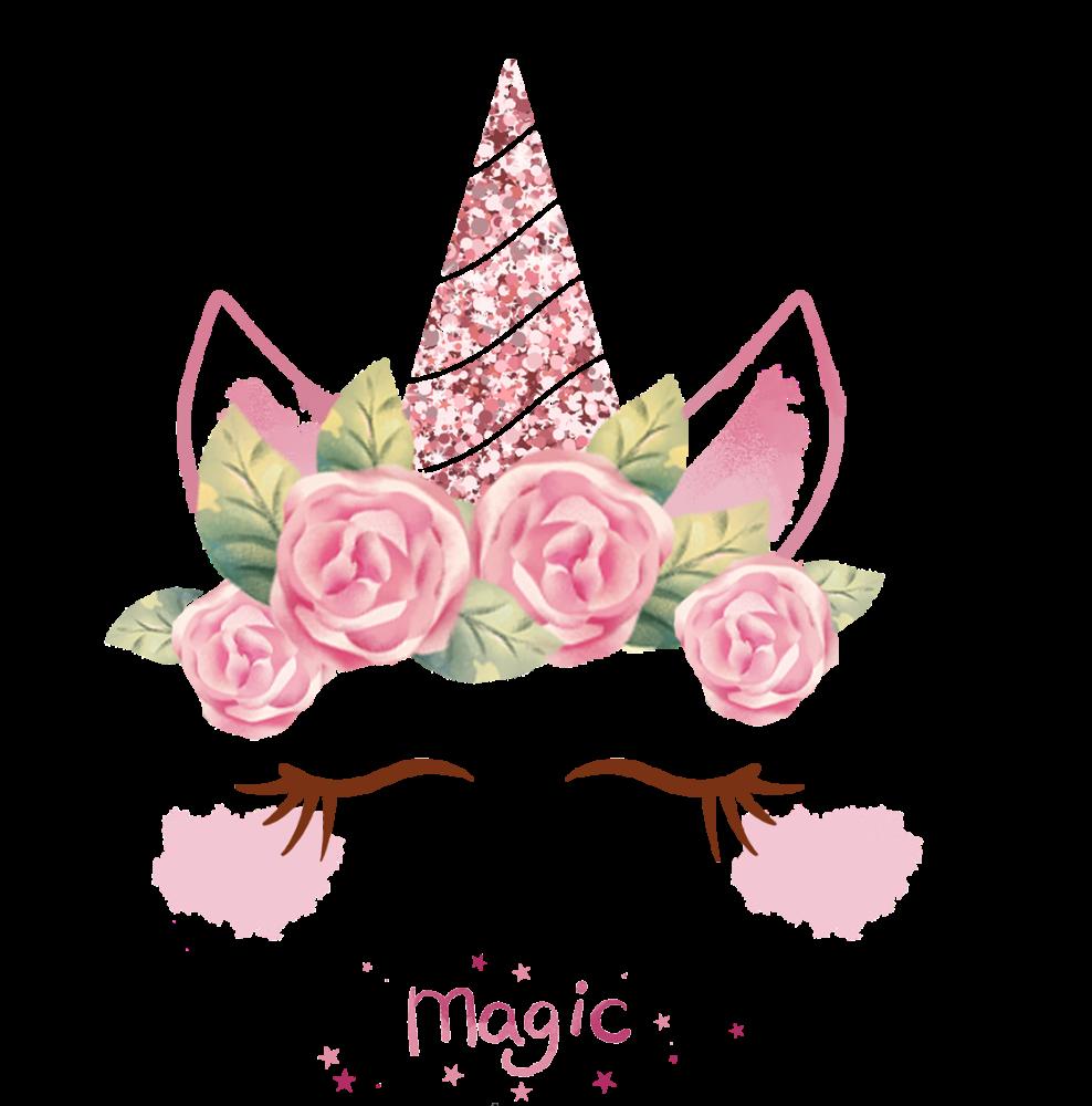 8 INCH FELT SQUARE,  MAGIC UNICORN 166