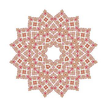 8 INCH FELT SQUARE,  ANCIENT MANDALA PATTERN 181