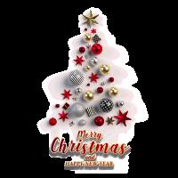 8 INCH FELT SQUARE, CHRISTMAS BAUBLE TREE 196