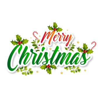 8 INCH FELT SQUARE, MERRY CHRISTMAS 197