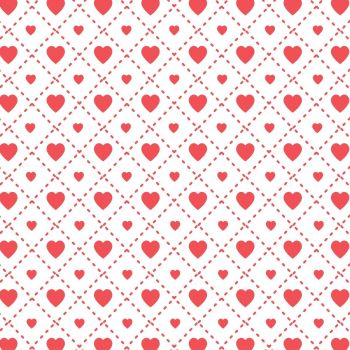 8 INCH FELT SQUARE, GRID OF HEARTS, 210
