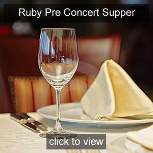 Nicola Benedetti Pre concert Supper Ruby Friend