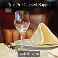 Nicola Benedetti Pre concert Supper Gold Friend