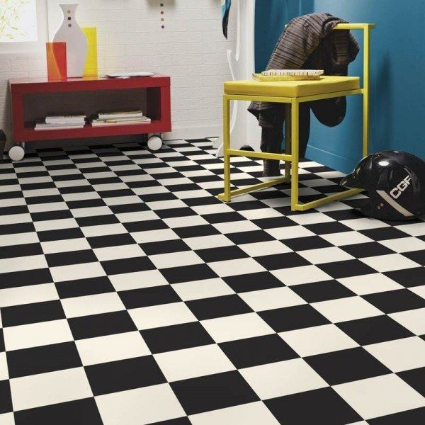 Marwell Black and White Vinyl Flooring