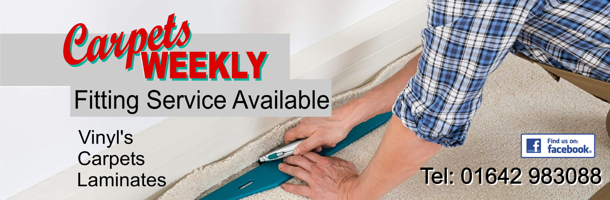 Full fitting Service Available from Carpets Weekly
