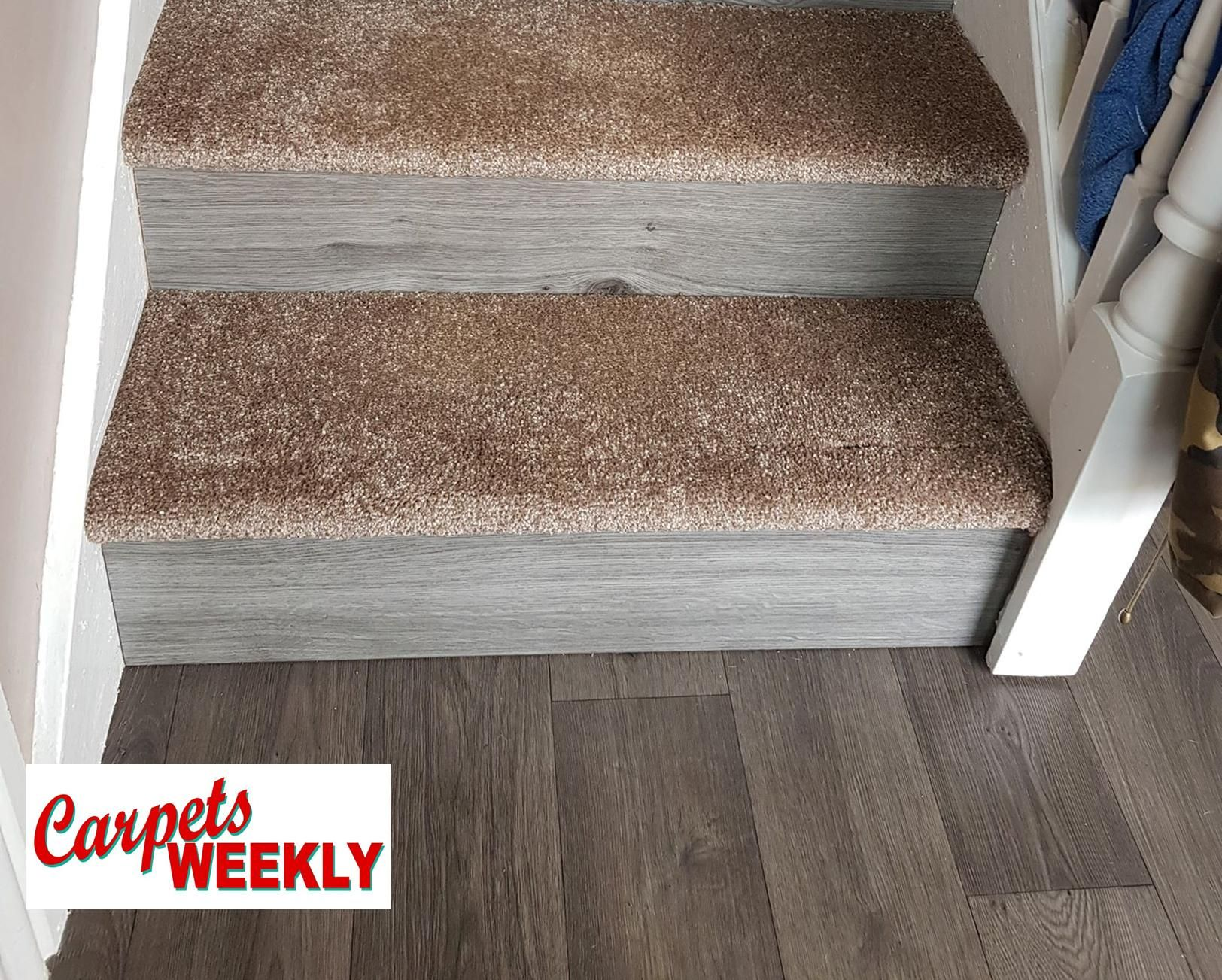 Carpets Weekly, Apollo Camel Carpet and Grey Oak Laminate 1