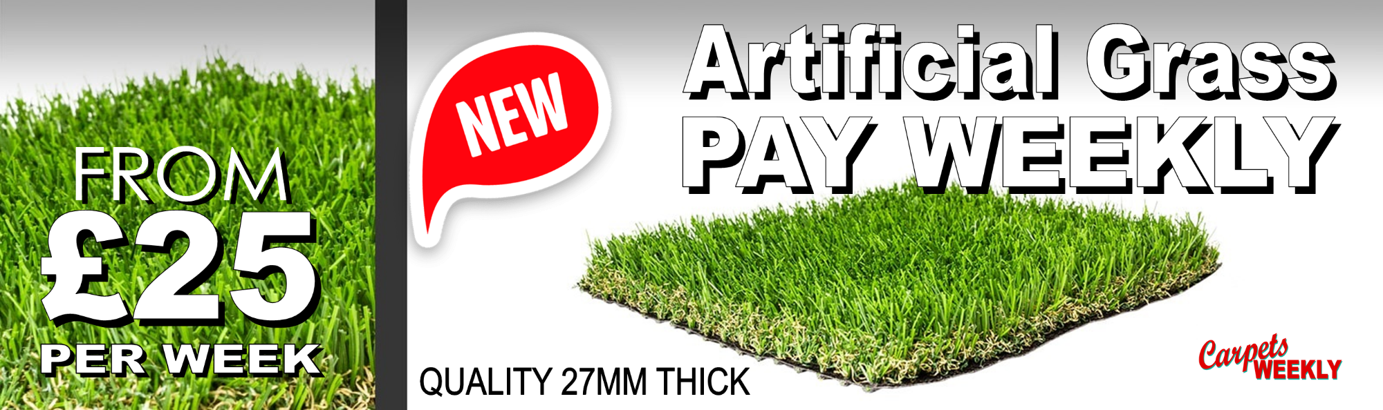 Artificial Grass - Pay Weekly