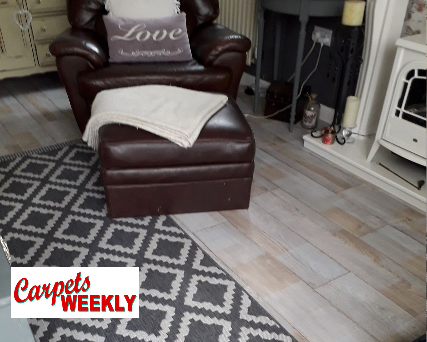 Carpets Weekly Everest Vinyl Flooring Living Room
