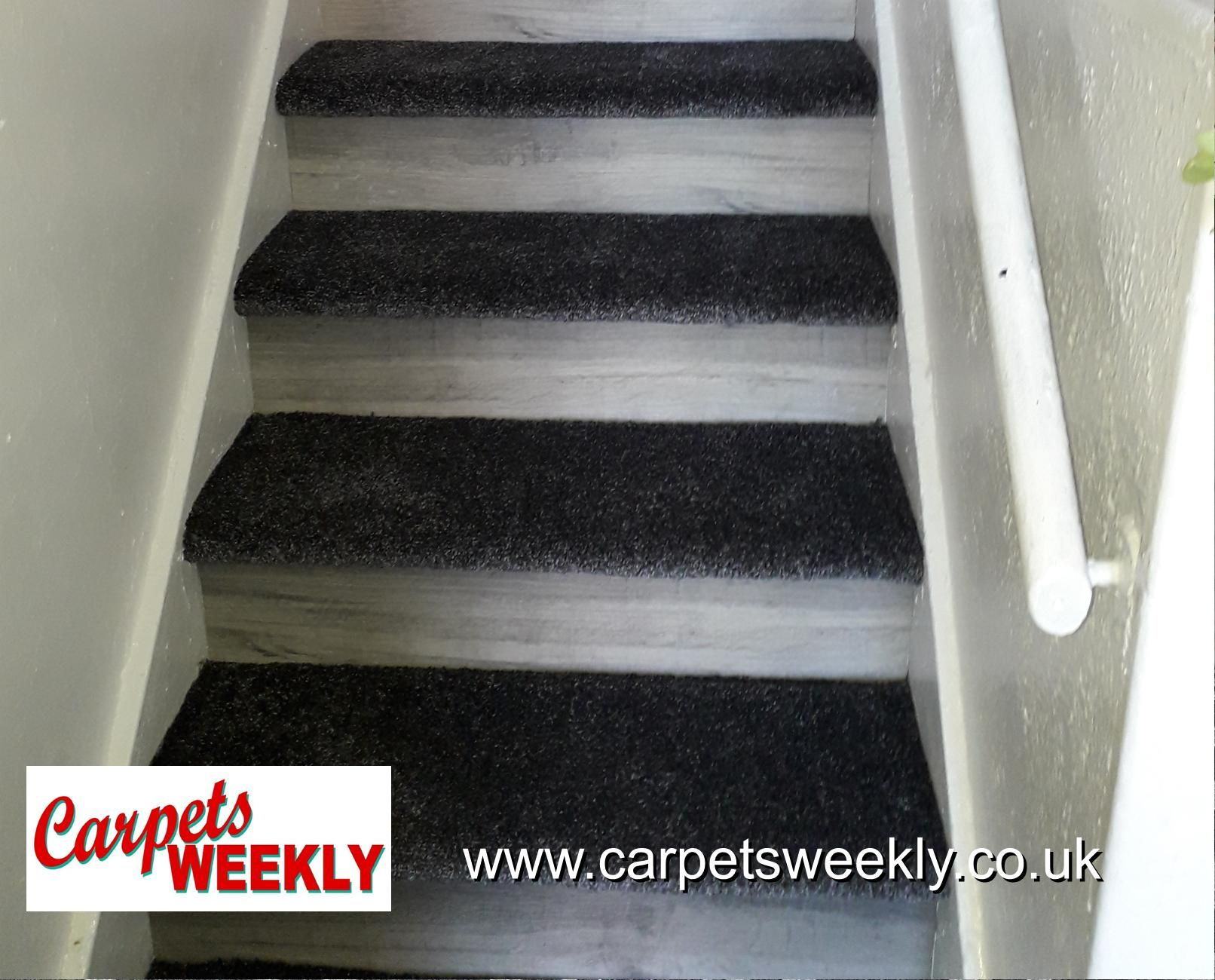 Easipay Carpets Combi Stairs with Apollo Grey and NEW LVT facings