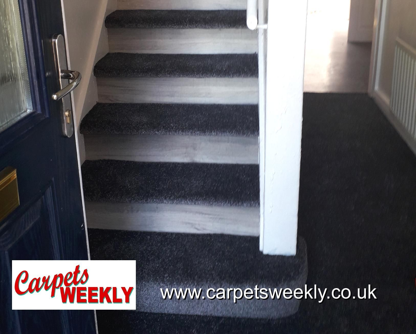Easipay Carpets Combi Stairs with Apollo Grey and NEW LVT facings 4