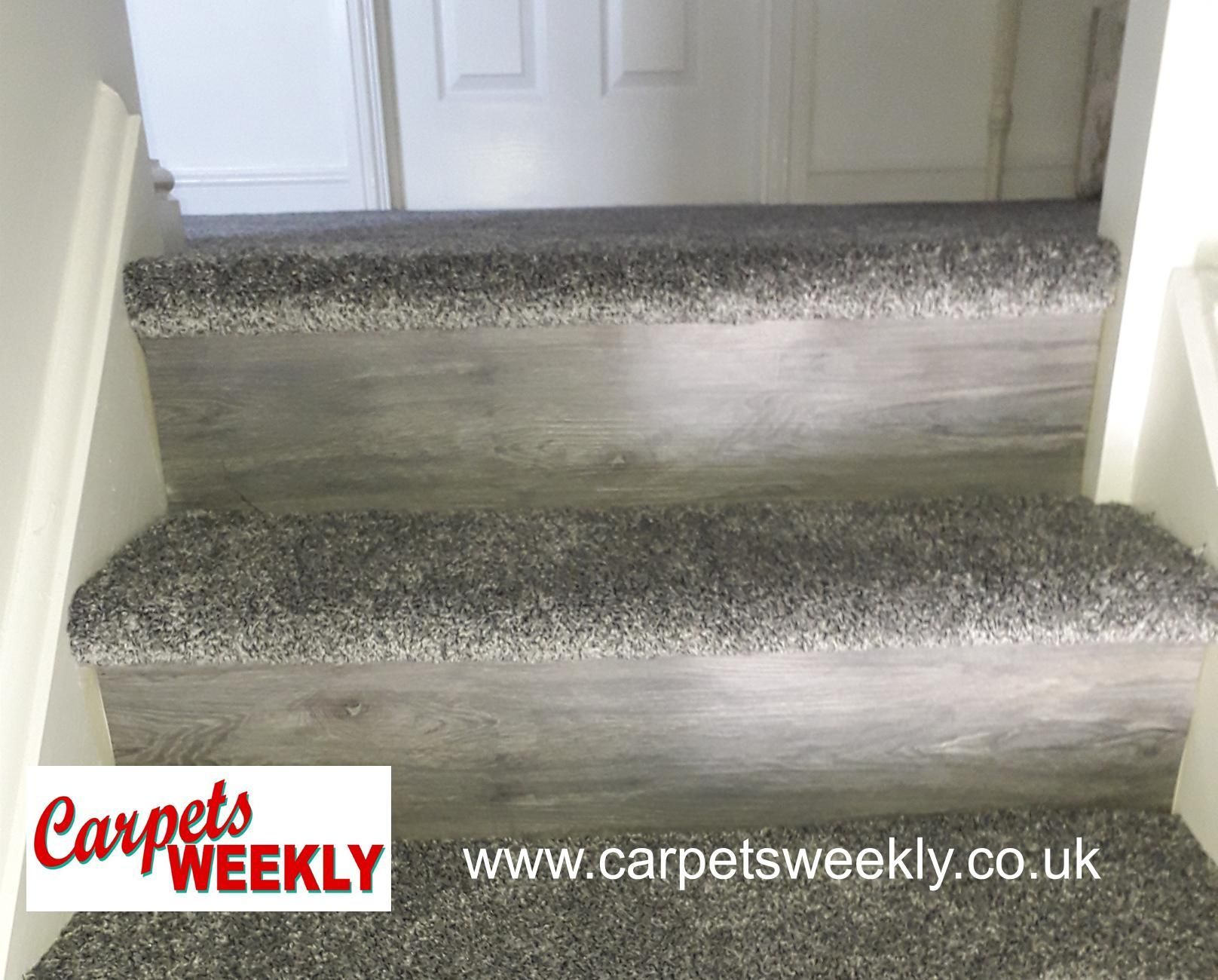 Carpets Weekly Combi Stairs with Apollo Silver Grey and NEW LVT facings  3