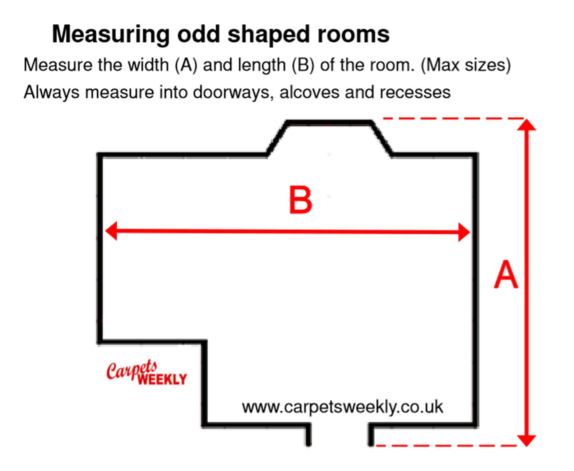 How to measure an odd shaped room for carpets and flooring. Carpets Weekly