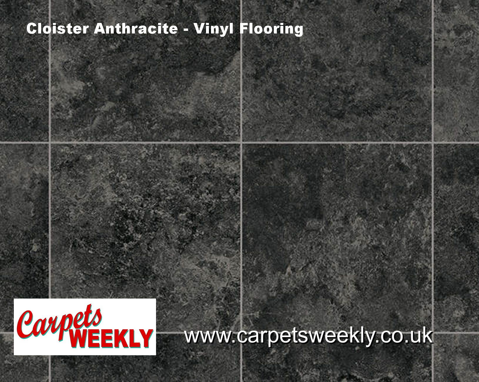 Cloister Anthracite  Rhinofloor Vinyl Flooring from Carpets Weekly
