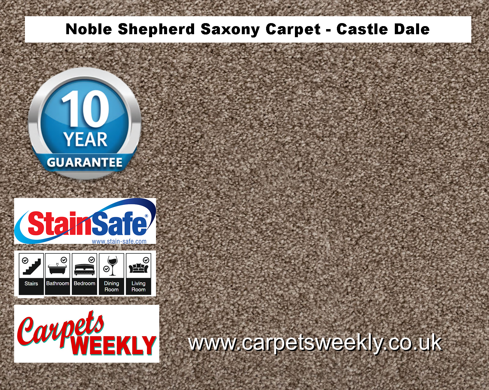 Noble Shepherd Saxony Carpet from Carpets Weekly Castle Dale (825)