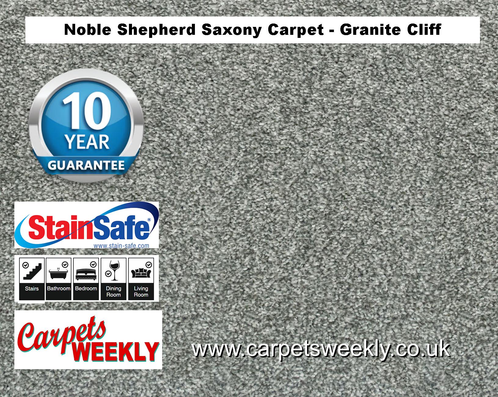 Noble Shepherd Saxony Carpet from Carpets Weekly Granite Cliff Carpet