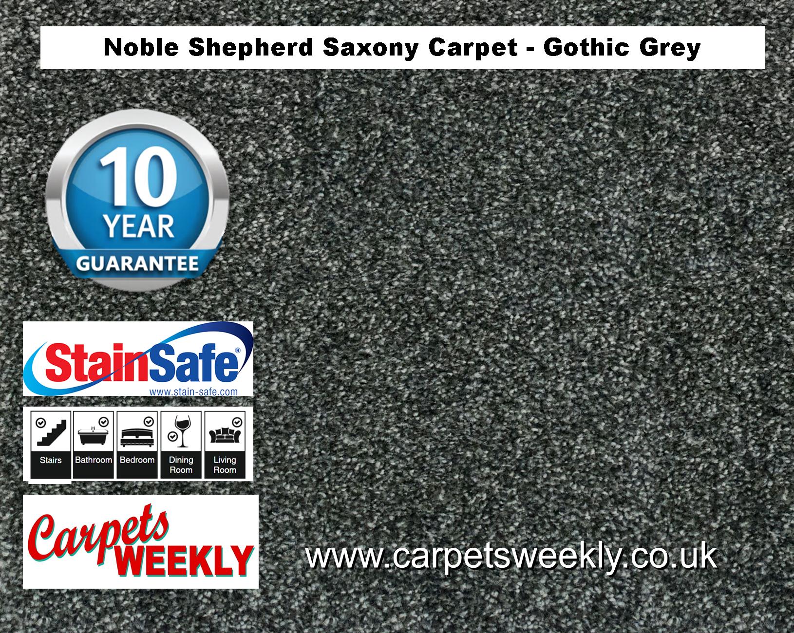 Noble Shepherd Saxony Carpet from Carpets Weekly Gothic Grey Saxony Carpet