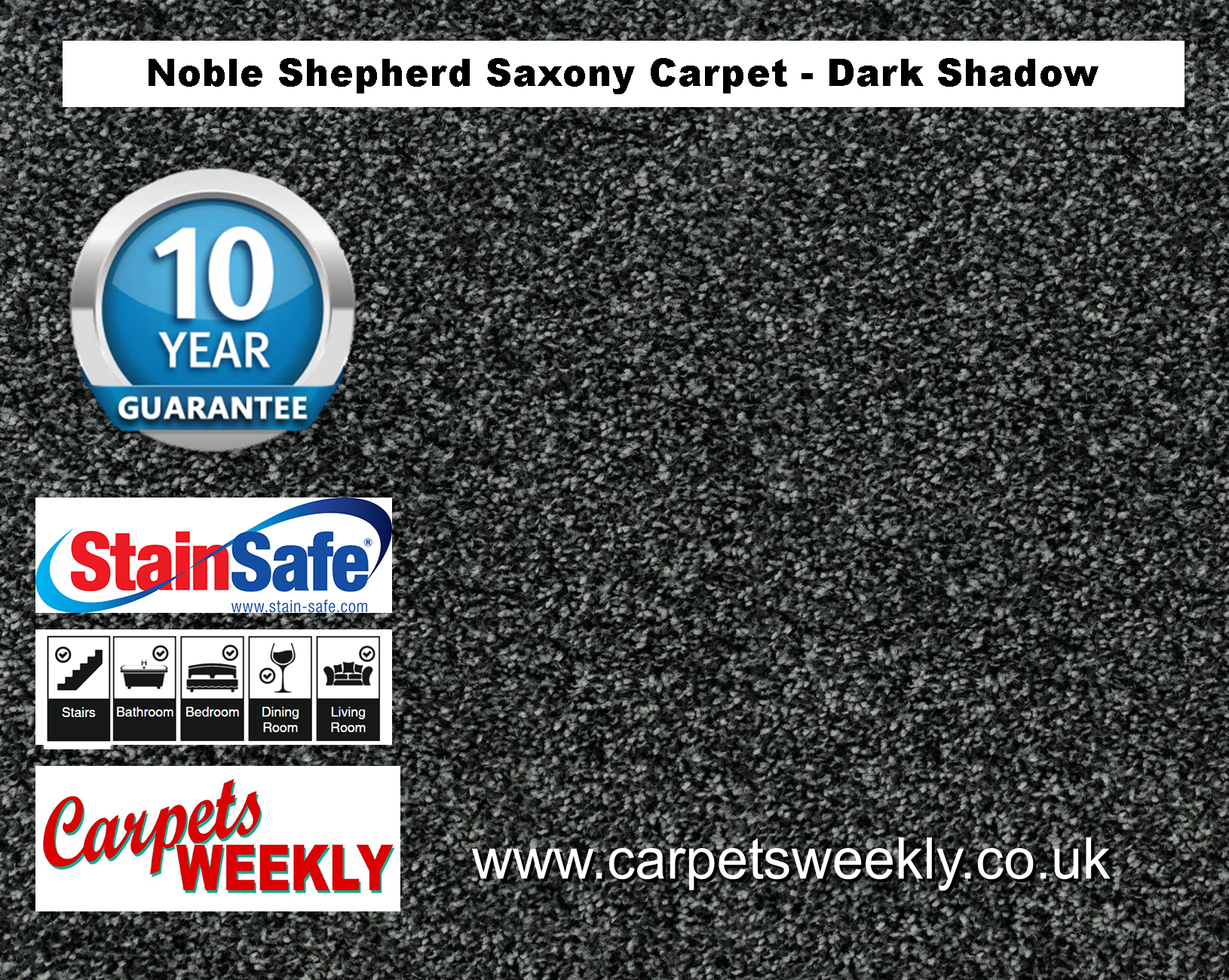 Noble Shepherd Saxony Carpet from Carpets Weekly Noble Shepherd Saxony Carpet from Carpets Weekly Darker Shadow (990)