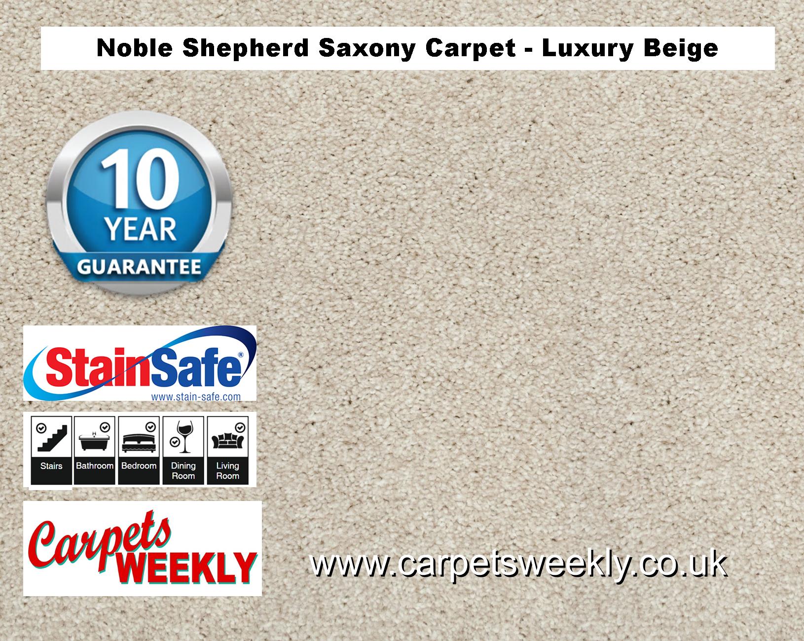 Noble Shepherd Saxony Carpet from Carpets Weekly Luxury Beige (680)