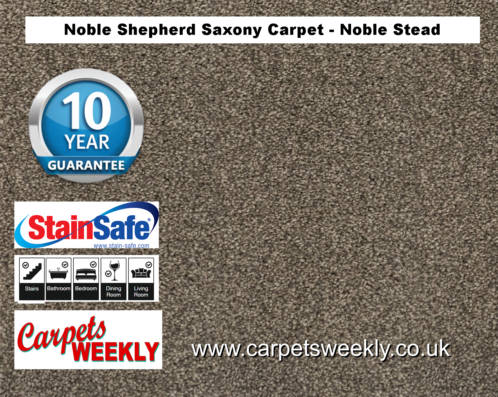 Noble Shepherd Saxony Carpet from Carpets Weekly Noble Stead (865)