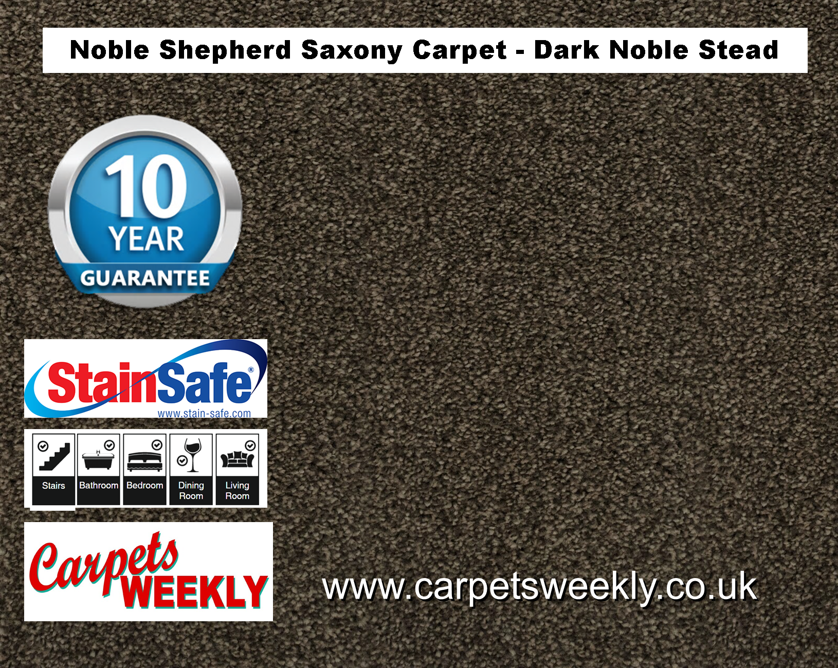 Noble Shepherd Saxony Carpet from Carpets Weekly Dark Noble Stead (880)