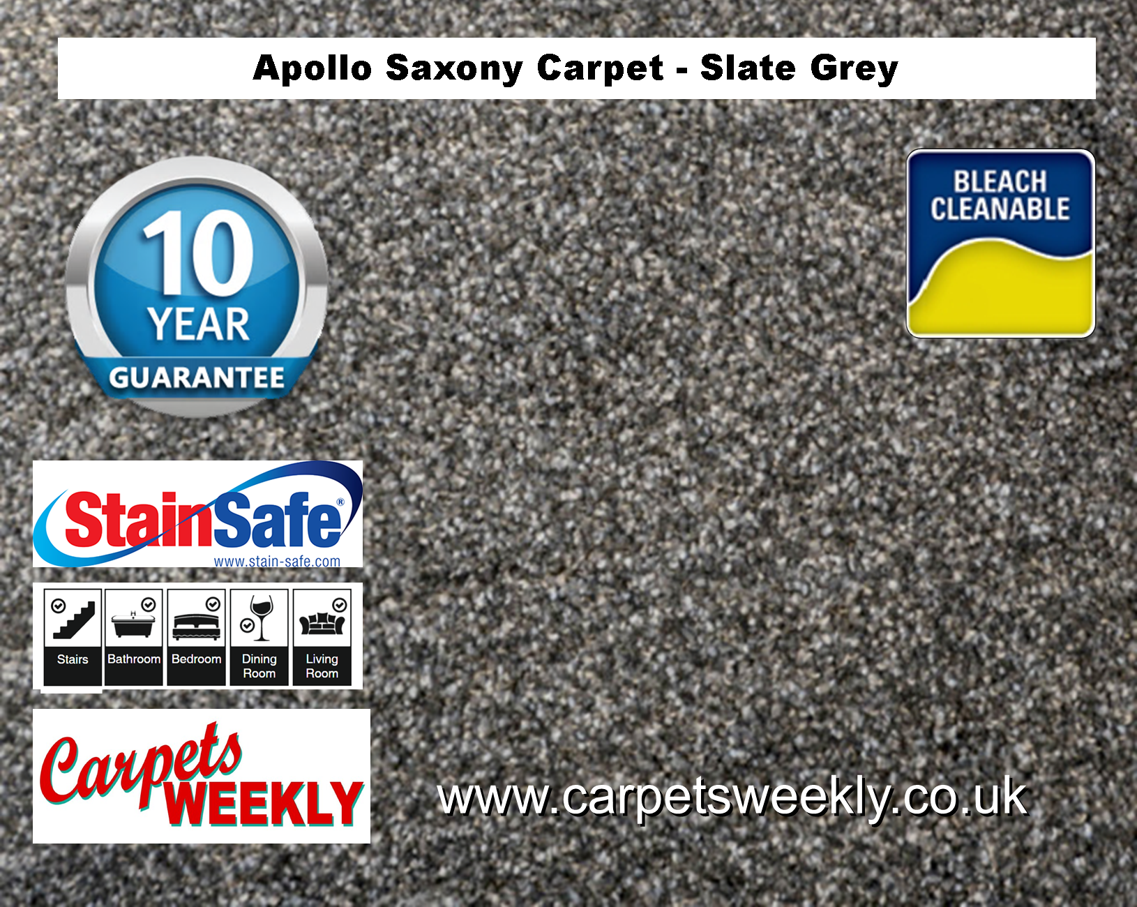 Carpets Weekly Apollo Slate Grey Luxury Carpet