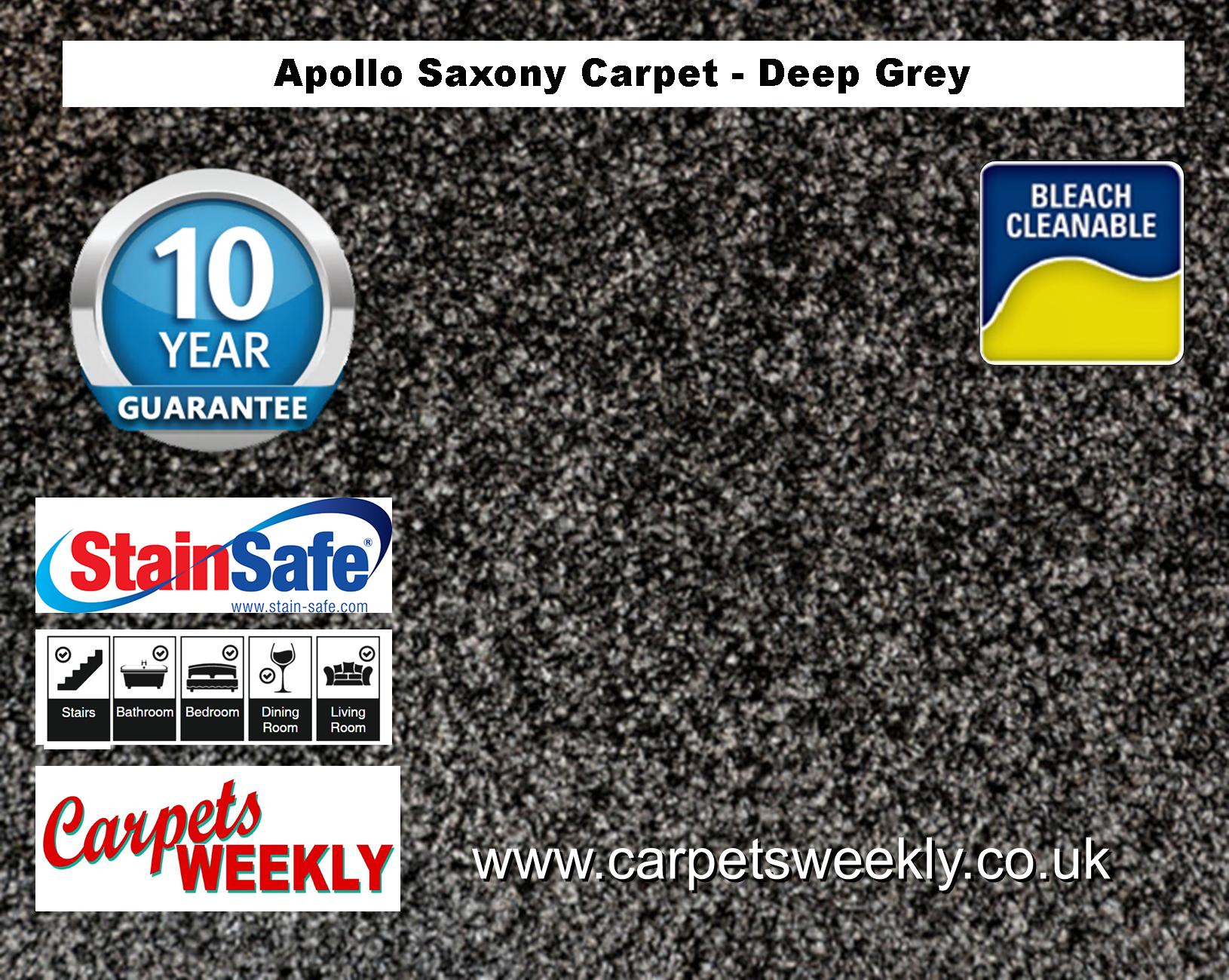 Carpets Weekly Apollo Deep Grey Luxury Carpet