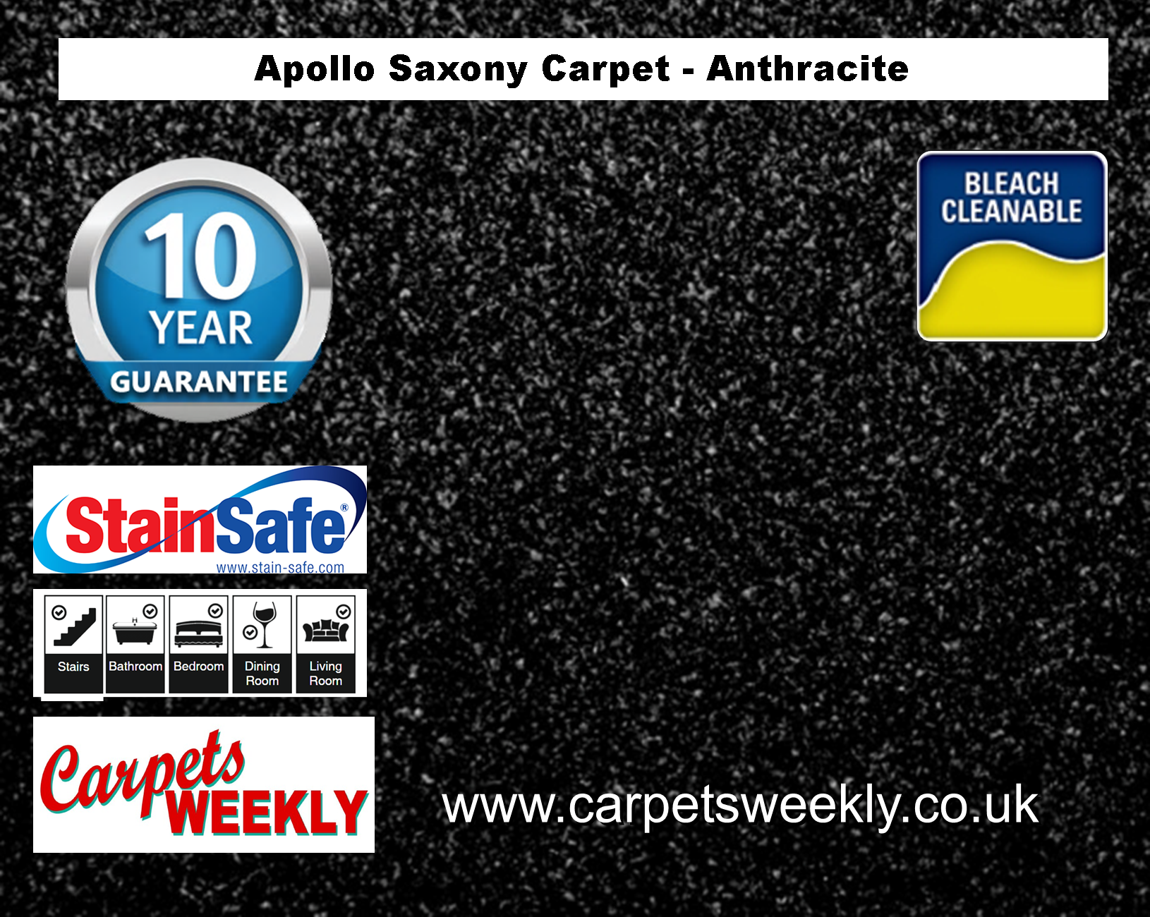Carpets Weekly Apollo Anthracite Luxury Carpet