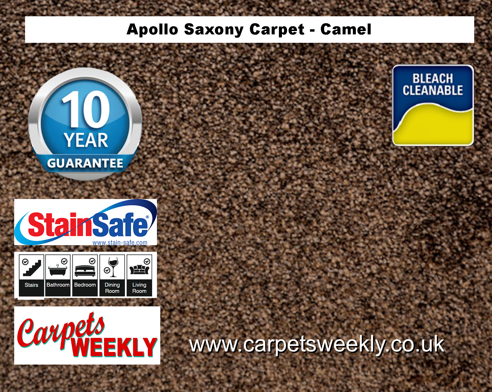 Carpets Weekly Apollo Camel Beige Luxury Carpet