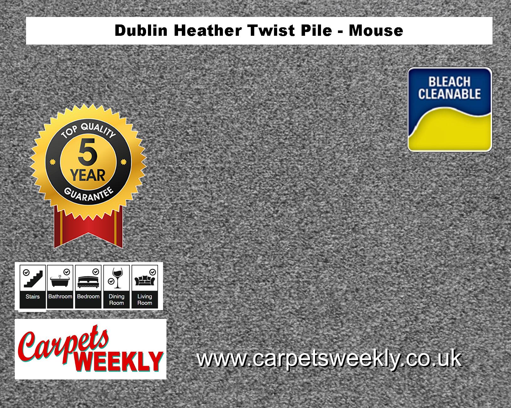 Carpets Weekly Dublin Heather Dublin Mouse - 151 mid range carpet