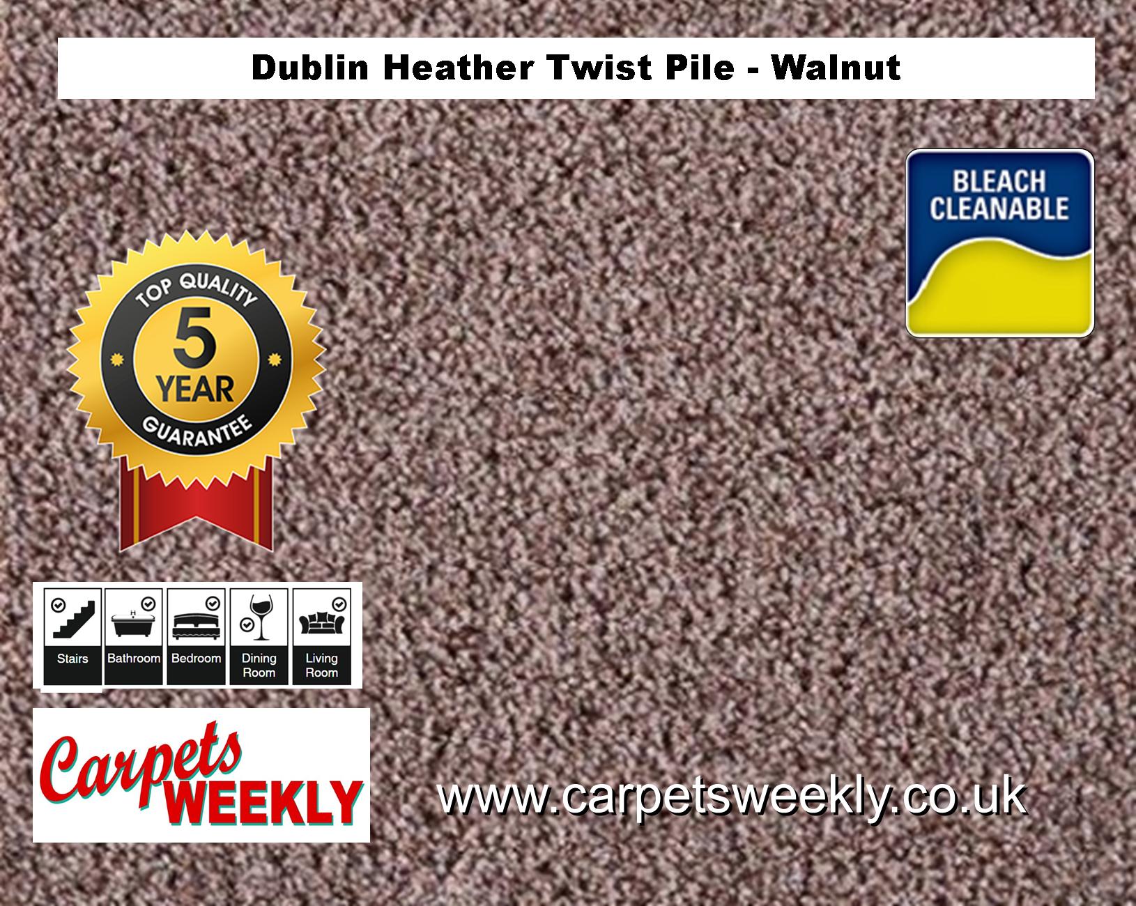Carpets Weekly Dublin Heather Dublin Walnut 964 mid range carpet