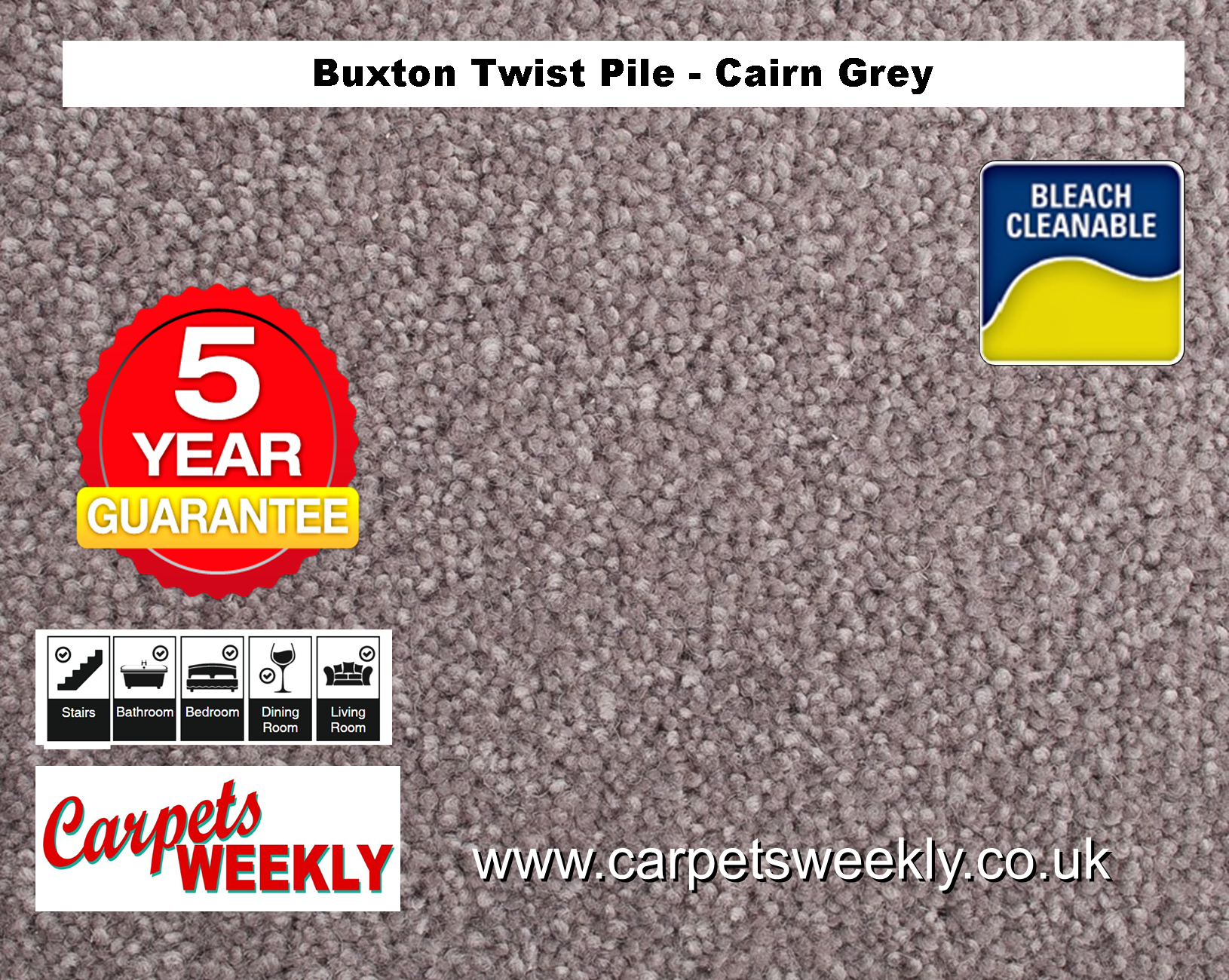Carpets Weekly Buxton Cairn Grey
