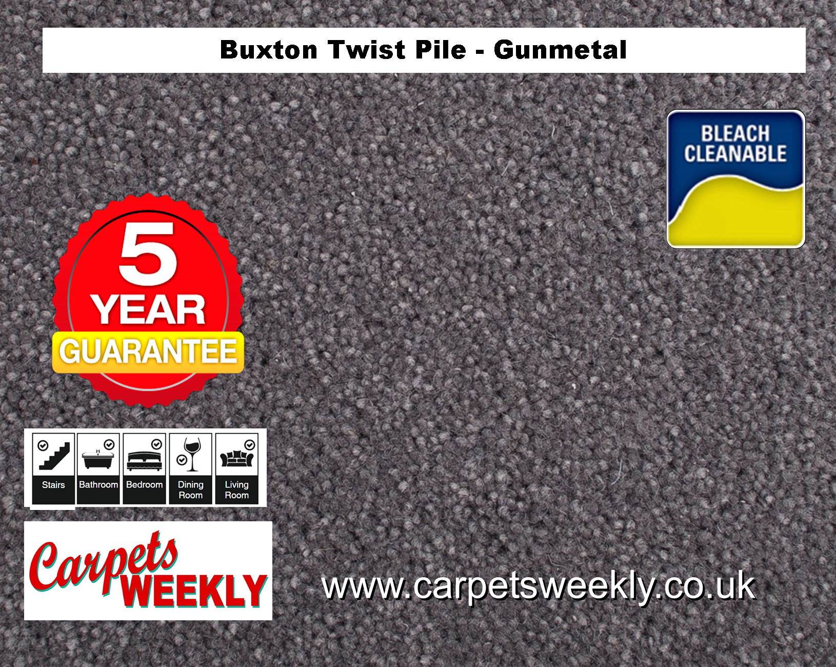 Carpets Weekly Buxton Gunmetal