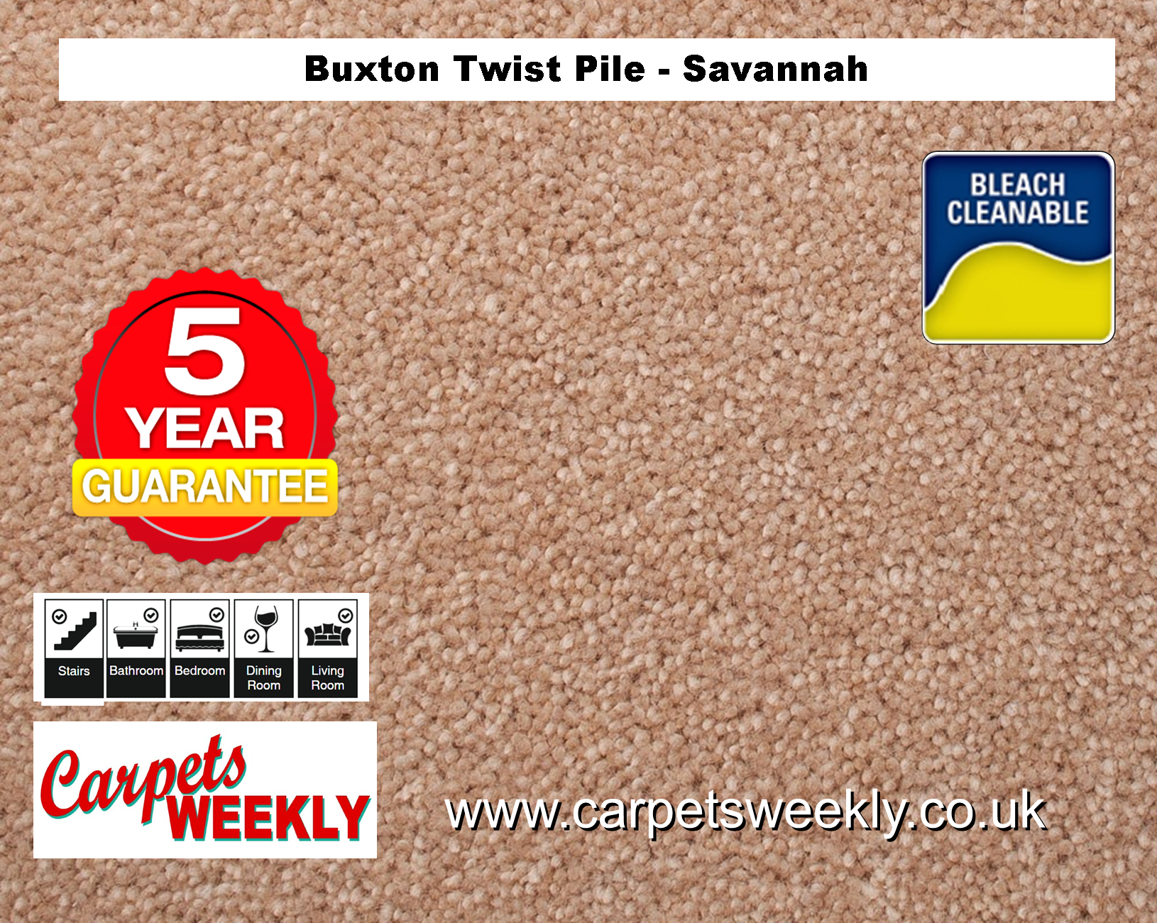 Carpets Weekly Buxton Savannah Hard Wearing Carpets