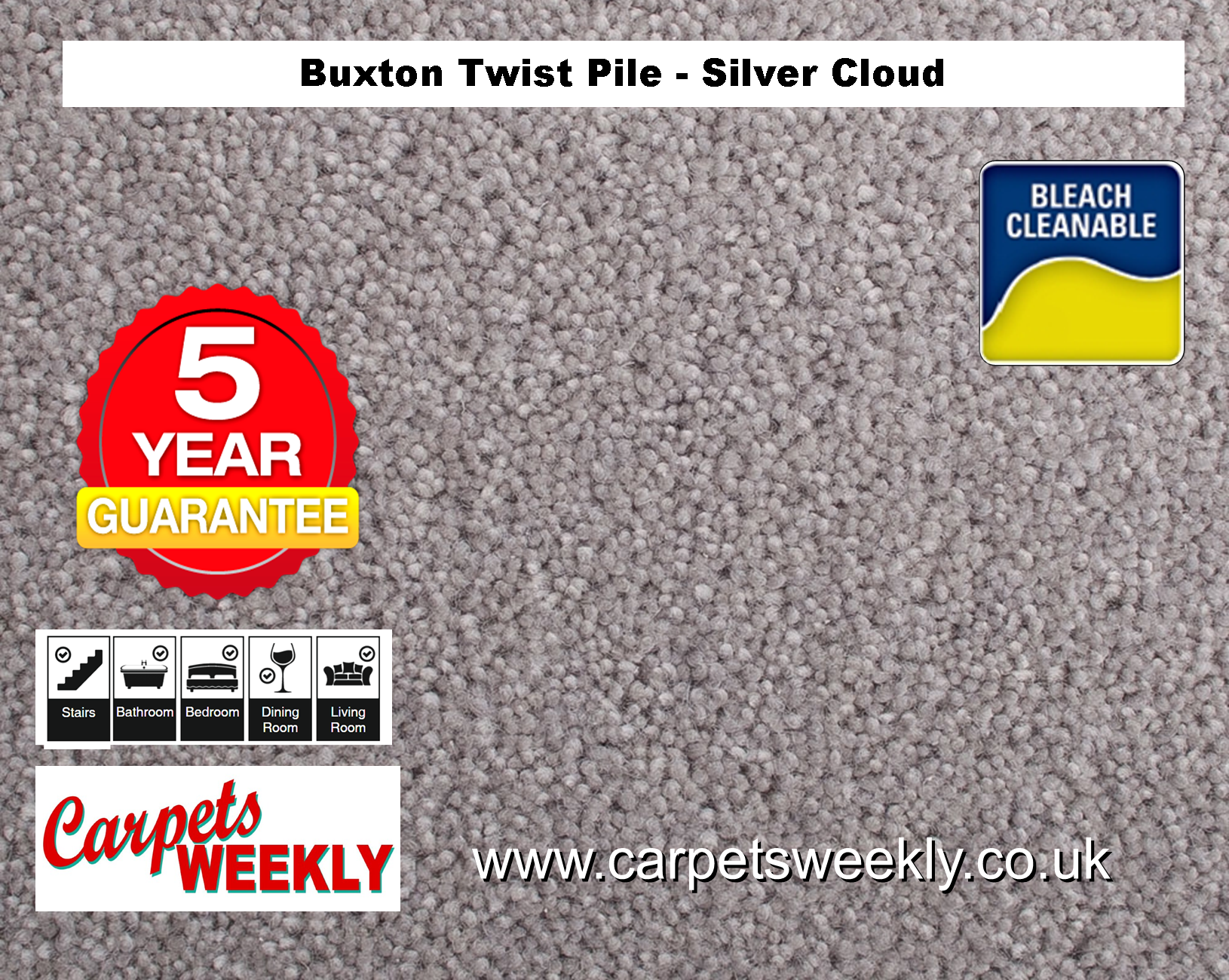 Carpets Weekly Buxton Silver Cloud